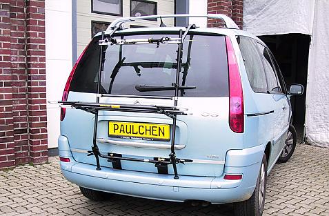Citroen C8 Bike carrier in loading position
