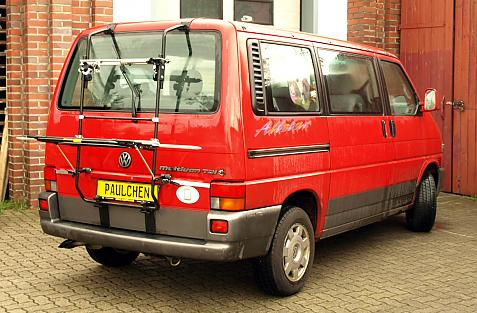 Volkswagen Bus T4 Bike carrier in loading position