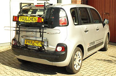 Citroen C3 Picasso Bike carrier with light bar in standby position
