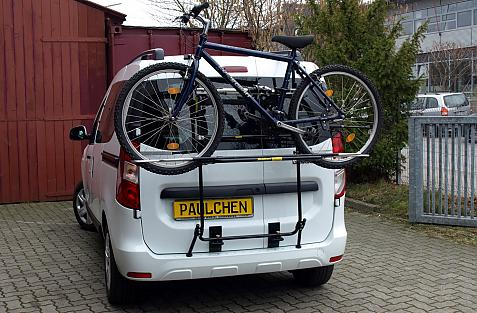 Dacia Dokker Bike carrier loaded with bike