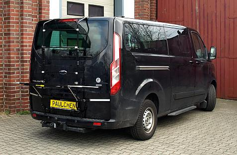 Ford Tourneo / Transit Custom Bike carrier in loading position
