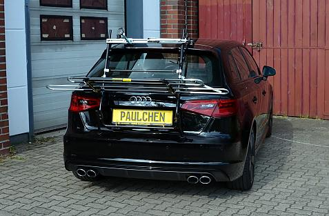 Audi S3 Sportback Bike carrier in loading position