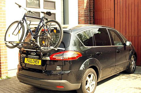 Ford S-Max Bike carrier loaded with bike