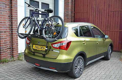 Suzuki SX4 S-Cross Bike carrier loaded with bike