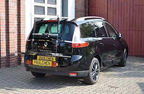 Renault Grand Scenic (JZ) Bike carrier with light bar in loading position