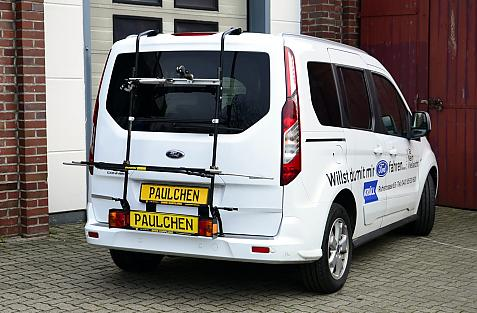Ford Tourneo Connect / Transit Connect Bike carrier with light bar in loading position