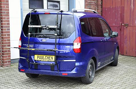 Ford Tourneo Courier / Transit Courier Bike carrier in loading position