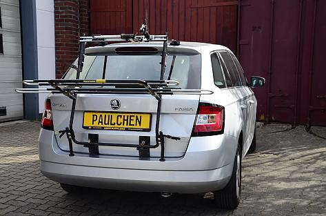 Skoda Fabia III Combi (NJ5) Bike carrier in loading position