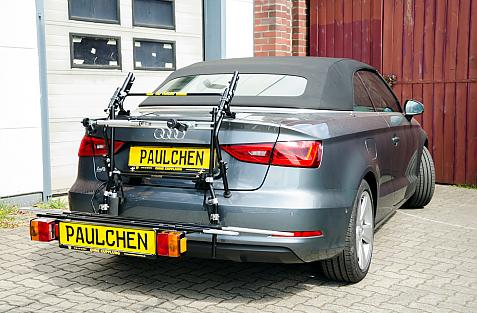 Audi A3 Cabrio / S3 Cabrio Bike carrier in loading position