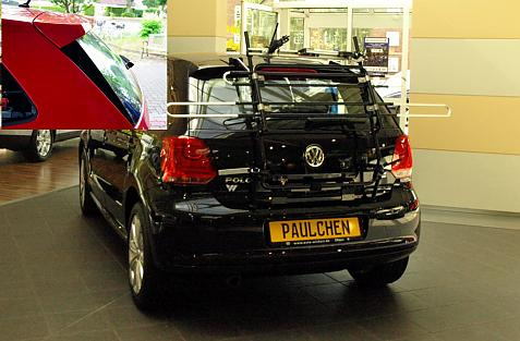 Volkswagen Polo V GT (6R/6C) Bike carrier in standby position