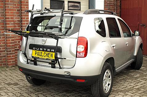 Dacia Duster Bike carrier in loading position