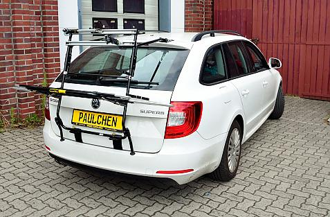 Skoda Superb Kombi II Facelift Bike carrier in loading position