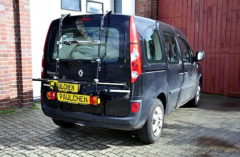 Renault Kangoo (KW) Bike carrier with light bar in loading position