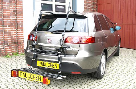 Fiat Croma Bike carrier with comfort load extension in loading position. Without trailer hitch!