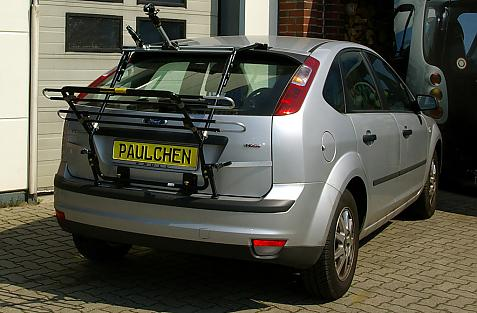 Ford Focus Bike carrier in loading position