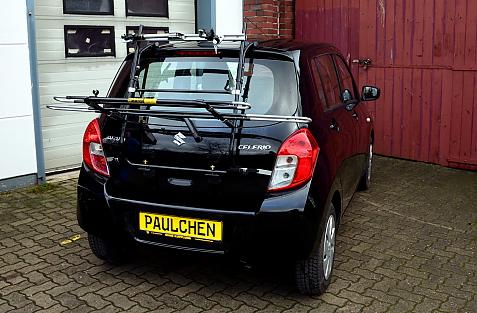 Suzuki Celerio Bike carrier in loading position