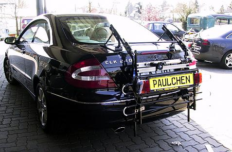 Mercedes CLK-Klasse Coupe (C209) Bike carrier with comfort load extension in standby position. Without trailer hitch!