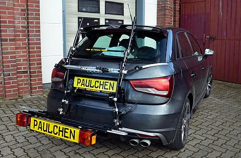 Audi S1 Bike carrier in loading position