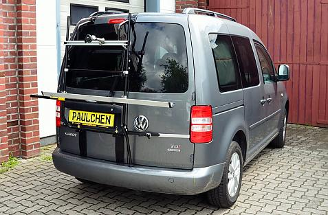 Volkswagen Caddy III / Caddy IV Bike carrier in loading position