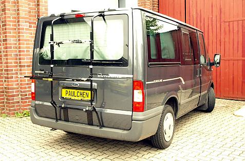 Ford Transit FT 260-350 Bike carrier in loading position