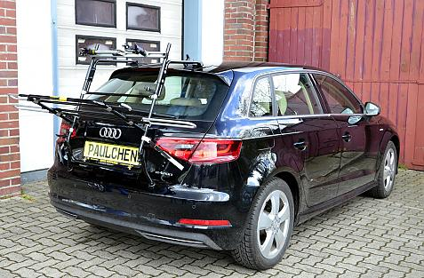 Audi A3 Sportback e-tron Bike carrier in loading position