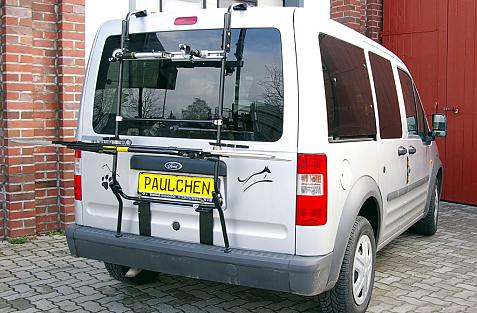 Ford Tourneo Connect Bike carrier in loading position