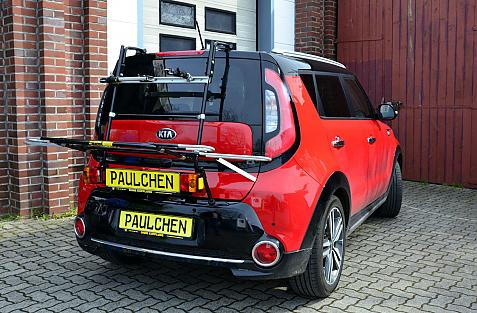 Kia Soul II (PS) Bike carrier with light bar in loading position