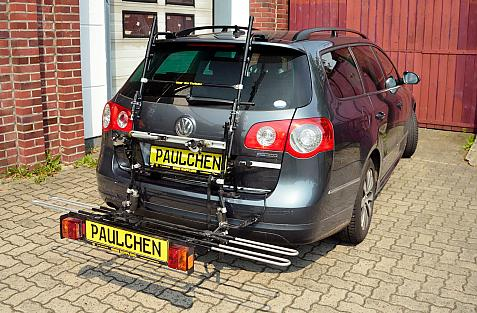 Volkswagen Passat Variant (B6/3C) Bike carrier with comfort load extension in loading position. Without trailer hitch!