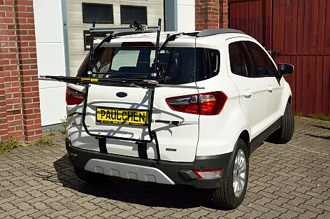 Ford Ecosport Bike carrier in loading position