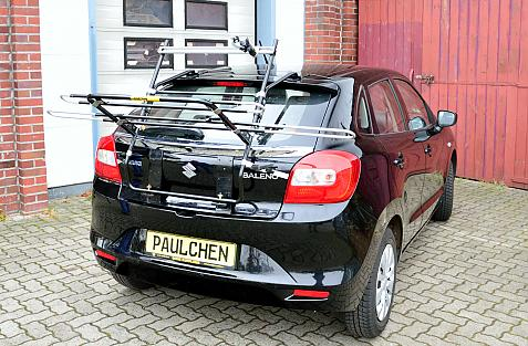 Suzuki Baleno Bike carrier in loading position