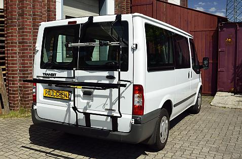 Ford Transit Bike carrier in loading position