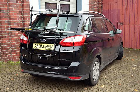 Ford Grand C-Max, Bike carrier in loading position