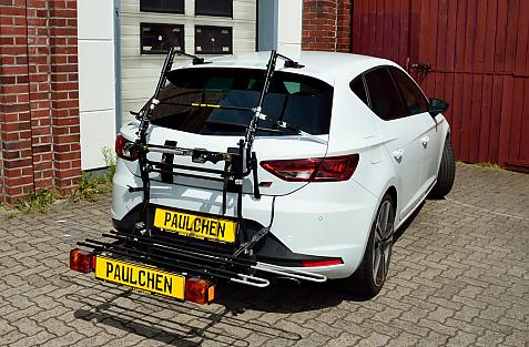 Seat Leon Cupra (5F) Bike carrier with comfort load extension in loading position. Without trailer hitch!