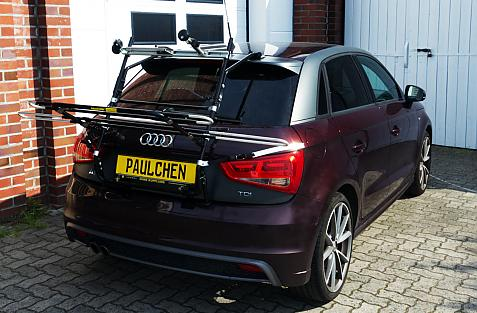 Audi A1 Sportback S-Line Bike carrier in loading position