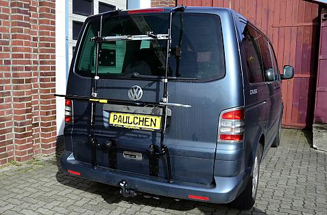Volkswagen Bus T5 Bike carrier in loading position