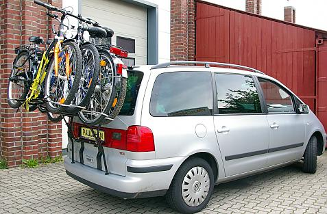 Seat Alhambra Bike carrier loaded with bike