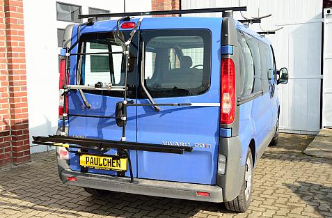 Renault Trafic II Bike carrier in loading position