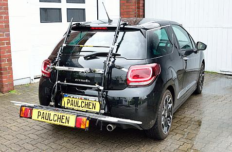 Citroen DS3 Bike carrier with comfort load expansion in loading position. Without trailer hitch!