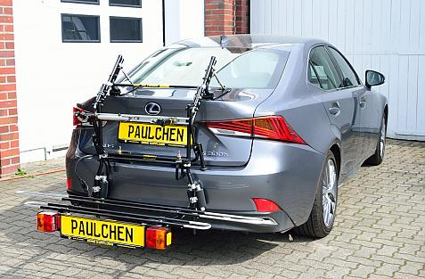 Lexus IS 300 h Bike carrier with comfort load expansion in loading position. Without trailer hitch!