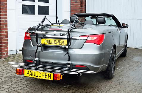 Lancia Flavia Cabrio Bike carrier with comfort load expansion in loading position. Without trailer hitch!