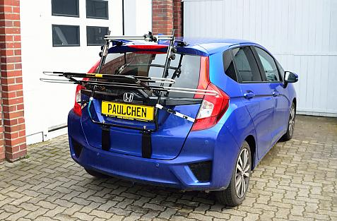 Honda Jazz IV (GK) Bike carrier in loading position