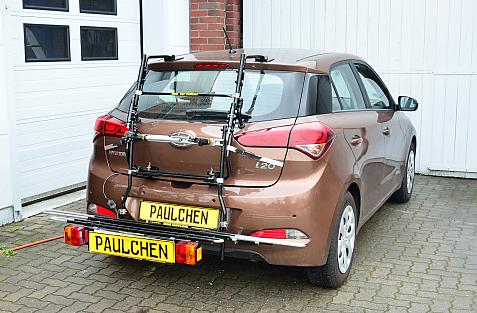 Hyundai i20 (GB) Bike carrier with comfort load expansion in loading position. Without trailer hitch!