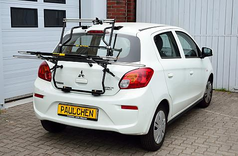 Mitsubishi Space Star Facelift Bike carrier in loading position