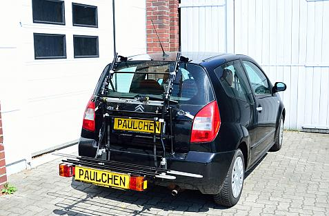 Citroen C2 Bike carrier with comfort load expansion in loading position. Without trailer hitch!