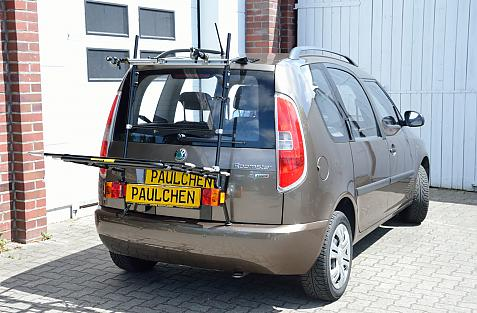 Skoda Roomster (5J) Bike carrier with light bar in loading position
