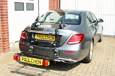 Mercedes E-Klasse (W213) Bike carrier with comfort load expansion in loading position. Without trailer hitch!