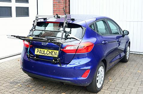 Ford Fiesta VII Bike carrier in loading position