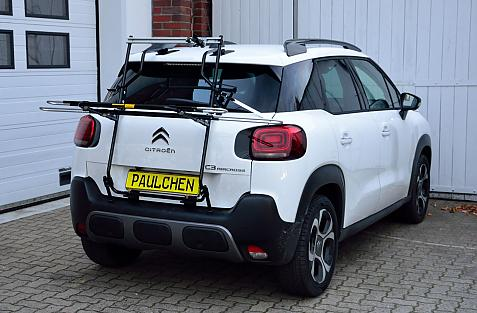 Citroen C3 Aircross Bike carrier in loading position