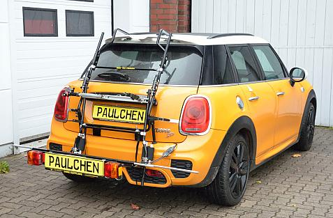 Mini Cooper JCW (F55) Bike carrier with comfort load expansion in loading position. Without trailer hitch!