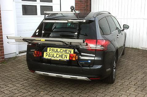 Citroen C5 Tourer (RD) Bike carrier in loading position